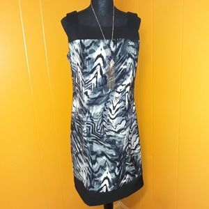 Emma and Michelle black/gray dress sz 10